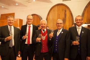 Zunftumgang und  Zunftmeister Daniel Fontolliet mit seinen Ehrengästen