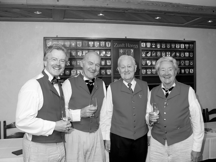 Vier alt Zunftmeister am Sechseläuten 2006