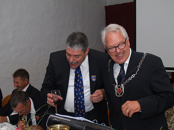 Die Zunftmeisterkollegen Felix Blumer und Daniel Fontolliet